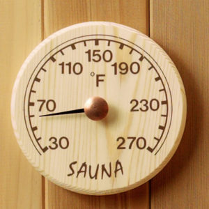 Round Wood Thermometer